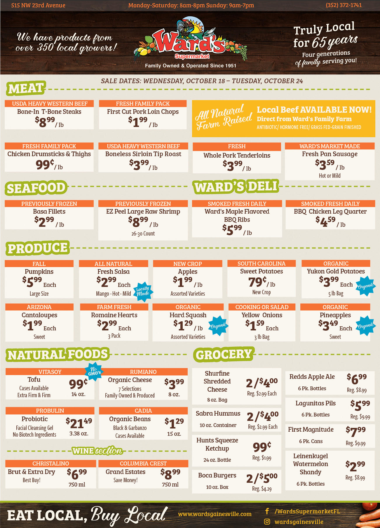 Ward's Supermarket Sales-Flyer-October-18-2017