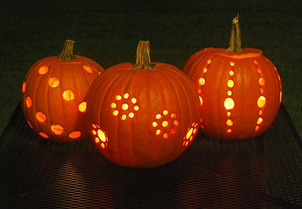 Pumpkin Drilled Design